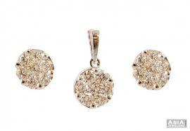designer diamond sets diamond pendant set ajdi57487 us 4 510 18k white gold
