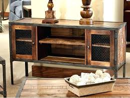 wood and metal console table with drawers industrial style console table iron reclaimed wood entertainment