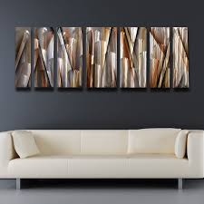 modern contemporary abstract metal wall art sculpture brown