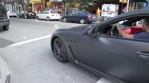 maserati grancabrio black matte black maserati granturismo mc stradale city acceleration