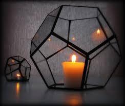 hurricane lantern glass candle holder geometric lighting