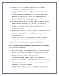 Radiologic Technologist Resume Sample by Medical Technologist Resume Summary Corpedo Com