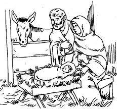 stylish decoration manger scene coloring page baby jesus free