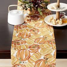 Coffee Table Runners Fall Pumpkin Table Runner Crate And Barrel