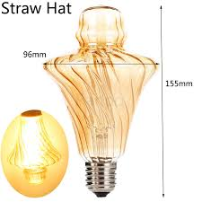 straw hat shape bullb e27 4w led light bulb lamp vintage retro
