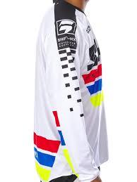 blank motocross jerseys shift white 2017 recon phoenix mx jersey shift freestylextreme