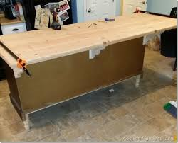 wood tops for kitchen islands diy wood countertop dresser to a kitchen island the chronicles