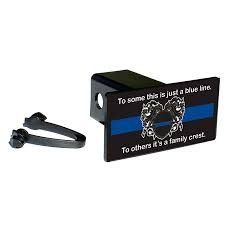 Subdued American Flag With Thin Blue Line Thin Blue Line Trailer U0026 Car Hitch Covers
