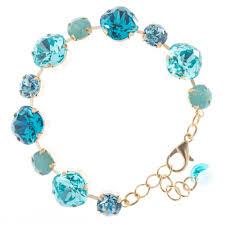 blue crystal necklace swarovski images Lisa marie jewelry swarovski crystal bracelet aqua combo jpg