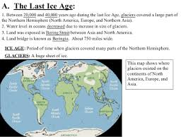 map of america 20000 years ago unit 1 americans