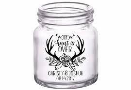 wedding favor glasses the hunt is 5a custom mini glasses wedding