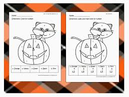 teacher country halloween color number u0026 addition