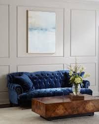 Living Room With Blue Sofa Designer Sofas U0026 Settees At Neiman Marcus