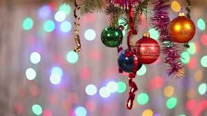 New Years Eve Tree Decorations by Christmas Tree Decorations Hanging On A Christmas Tree With A