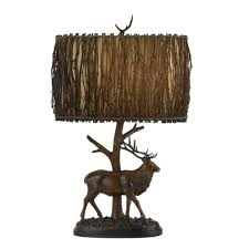 lighting cool rustic pillar table lamp design with tapered drum