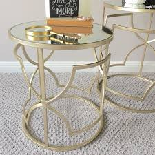 side table set of 2 set of 2 chagne side tables mirror top humble home