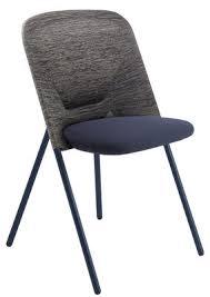 chaise de pliante chaise pliante shift rembourrée tissu bleu gris moooi