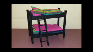 how to make a doll bunk bed youtube