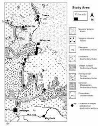 Map Of Southwest Colorado geologic map for the study area in southwest colorado figure