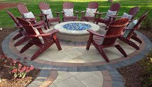 Glass Fire Pits by Outdoor Paver Fire Pit Ideas Cleveland