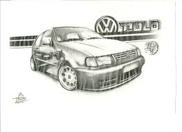volkswagen drawing volkswagen polo 16v by trism28 on deviantart