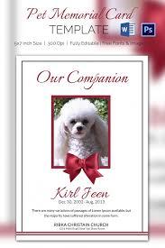 5 pet memorial card templates u2013 free word pdf psd documents