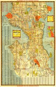 Seattle Districts Map by Seattle Historical Maps Kroll Map Company