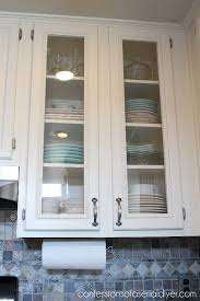 How To Add Glass To Cabinet Doors Confessions Of A Serial Doit - Glass cabinets for kitchen