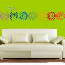 Meditation Home Decor Aliexpress Com Buy 7pcs Set Chakras Vinyl Wall Stickers Mandala