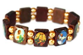 catholic bracelets mexican catholic saints bracelet with glass my mercado