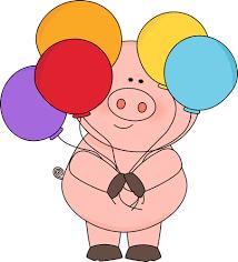 pig balloons pig with balloons clip pig with balloons image
