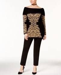 Inc International Concepts Jacquard Print Tunic Sweater Only At