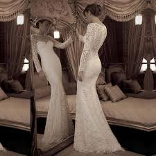vintage lace wedding dress vintage sheath lace wedding dress with sleeves