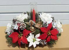 Christmas Hurricane Centerpiece - gold hurricane centerpiece christmas arrangements 9961