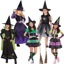 Girls Witch Halloween Costume Amscan Kids Halloween Witched Girls Witch Fancy Dress Party
