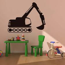 online get cheap digger wall stickers aliexpress com alibaba group tread wheeled digger wall stickers traffic wall art vinyl removable wallpaper for kids room adhesive murals decals home dcor