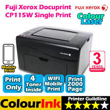 fuji xerox docuprint cp115w wi fi colorlaser cp115w colour