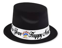 new year party favors silver top hat custom imprinted collection new year s party kit