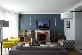 canap bleu gris mur bleu gris gallery of salon avec un mur bleu un canap gris y fait
