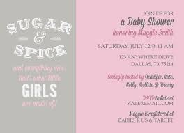 sugar and spice and everything baby shower sugar and spice baby shower kateogroup custom invitations