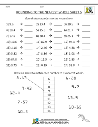 rounding integer numbers rounding decimals to the nearest whole