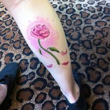 disney tattoos beauty and the beast rose tattoo love