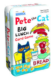 amazon com pete the cat big lunch card game tin toys u0026 games