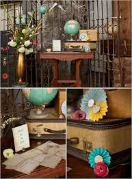 travel themed table decorations vintage travel ideas wedding from rebecca arthurs guest book table