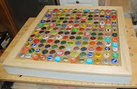 beer cap table top diy cheap and chic bottlecap table my so called crafty life