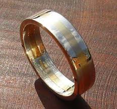 wedding rings uk chunky gold and silver wedding ring love2have in the uk