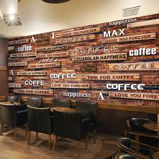 online get cheap coffee wall mural aliexpress com alibaba group custom wall mural 3d retro wood grain board letters wallpaper coffee cafe cake shop tooling backdrop wall painting wallpaper