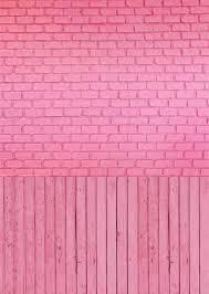 Pink Brick Wall Pink Brick Wall Wood Floor Photography Backdrops Digital Photo