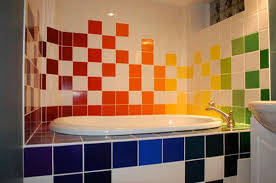 excellent colorful tiled bathrooms vitedesign modern bathroom sweet rainbow bathtub cute oval unique colorful images about kids