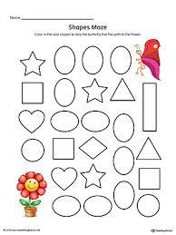 oval shape maze printable worksheet color printable worksheets